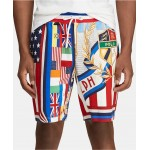 Mens Double-Knit Graphic Chariots Shorts
