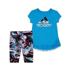Toddler Girls 2-Pc. Leap Logo Top & Printed Capri Tights Set