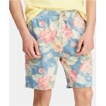 Mens Big & Tall Floral Spa Terry Shorts