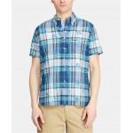 Mens Custom Fit Cotton Madras Shirt