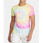 Mens Logo Graphic Tie-Dye T-Shirt