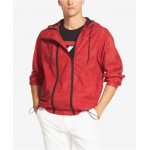 Mens Double-Zip Hooded Windbreaker