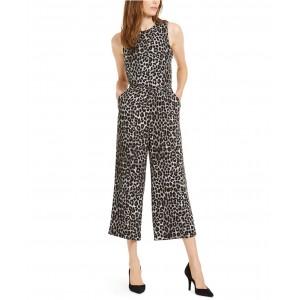 Animal-Print Cropped Jumpsuit, Regular & Petite