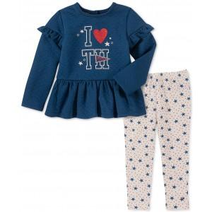 Baby Girls 2-Pc. Peplum Tunic & Star-Print Leggings Set