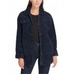Womens Oversized Sherpa Trucker Jacket
