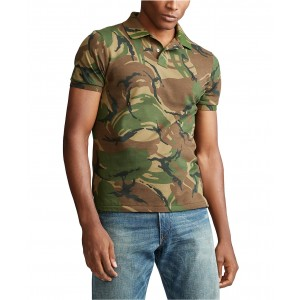 Mens Big & Tall Classic Fit Camouflage Cotton Polo
