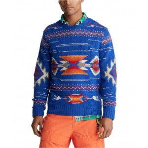 Mens Southwestern Wool Sweater