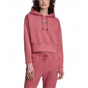 Vocal Cotton 3-Stripe Cropped Hoodie