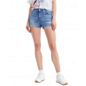 Womens High-Rise Distressed Shorts
