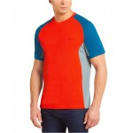 Mens Motion Regular Fit Short Sleeve Colorblock Cotton Pique Performance T-Shirt