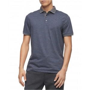 Mens Regular-Fit Yarn-Dyed Engineered Stripe Polo Shirt