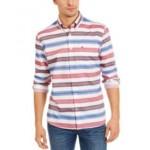 Mens Berkshire Stripe Shirt, Created For Macys