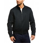 Mens Regular Fit Lightweight Harrington Twill Jacket