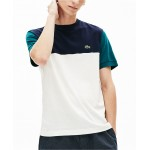 Mens Colorblock Regular Fit Crew Neck Cotton Jersey T-Shirt
