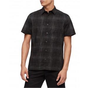 Mens Short Sleeve Stretch Cotton Shirt