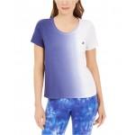 Scoop-Neck Ombre T-Shirt