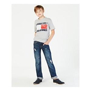 Tommy Flag Graphic-Print T-Shirt, Big Boys