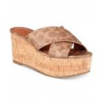 Cross-Band Wedge Sandals