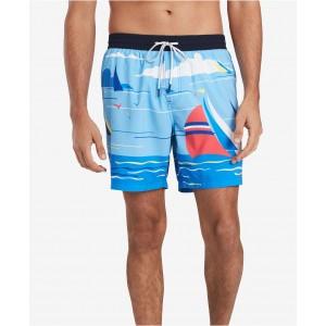 Mens Sailboat Graphic Swim Trunks, Created for Macys