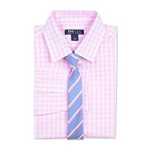 Big Boys Sailor Gingham Shirt & Striped Necktie Set