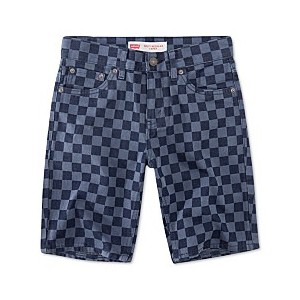 Big Boys 502 Checkerboard-Print Taper-Fit Denim Shorts