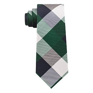 Mens Bold Plaid Silk Tie