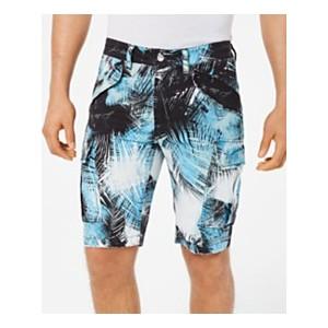 Mens Island Breeze Stretch Palm-Print Cargo Shorts