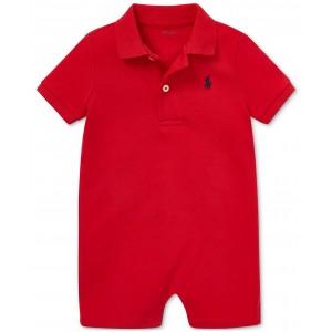 Baby Boys Cotton Interlock Polo Shortall