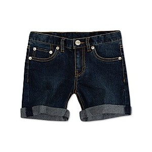 Big Girls Cuffed Hem Denim Shorts