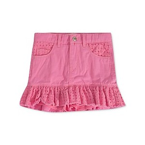 Little Girls Eyelet-Trim Denim Scooter Skirt