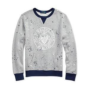 Big Boys Twill Terry Graphic Sweatshirt
