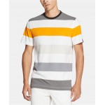 Mens Yarn-Dyed Colorblocked Stripe T-Shirt