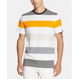 Mens Yarn-Dyed Colorblocked Stripe T-Shirt