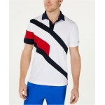 Mens Danes Custom-Fit Moisture-Wicking Colorblocked Polo Shirt