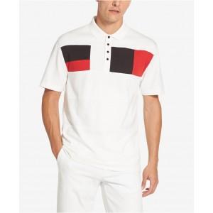 Mens Interlock Colorblocked Polo Shirt