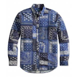 Mens Classic Fit Bandanna Shirt
