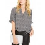 Petite Printed Tie-Sleeve Top, Regular & Petite Sizes