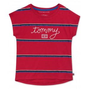 Big Girls Cotton Striped Tommy T-Shirt