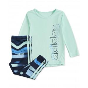 Baby Girls Logo T-Shirt & Printed Tights Set
