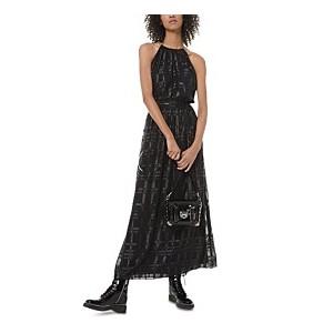 Shine Plaid Maxi Dress