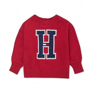 Baby Girls Big H Sweater