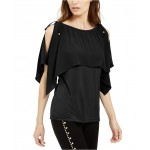 Cold-Shoulder Overlay Top, Created For Macys