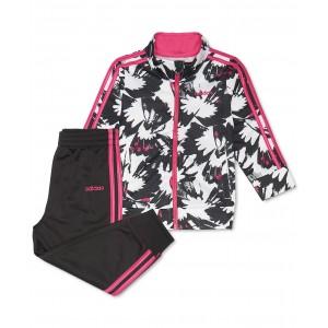 Little Girls 2-Pc. Printed Jacket & Pants Tricot Track Set