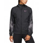 Womens Essential Water-Repellent Hooded Running Jacket