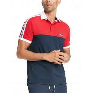 Mens Custom-Fit Nilsson Logo Colorblock Polo Shirt