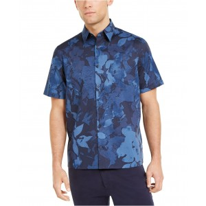 Mens Tropical Print Traveler Shirt