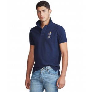 Mens Custom Fit Polo Bear Mesh Polo Shirt