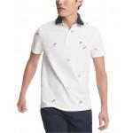 Mens Custom-Fit Joel Nautical Flag Polo Shirt