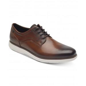 Mens Garett Leather Plain-Toe Oxfords