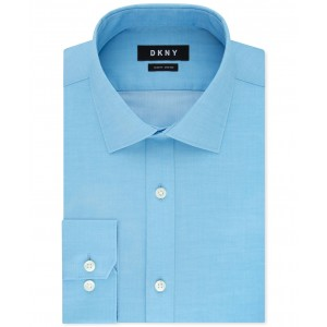 Mens Slim-Fit Stretch Gray Solid Dress Shirt